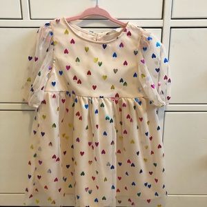 H&M rainbow heart dress